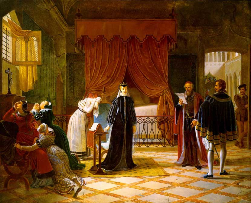 Mary Queen of Scots Receiving Her Death Sentence