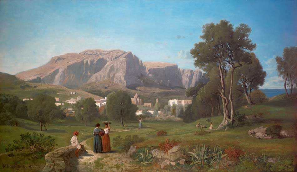 Vue prise dans l'île de Capri, Golfe de Naples