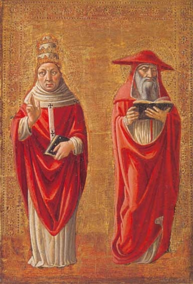 St Jerome and St gregory the Great