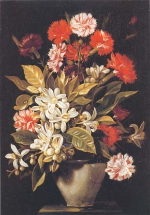 Still Life with carnations and orange blossom