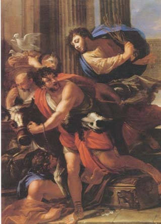 Christ expelling the merchants from the temple