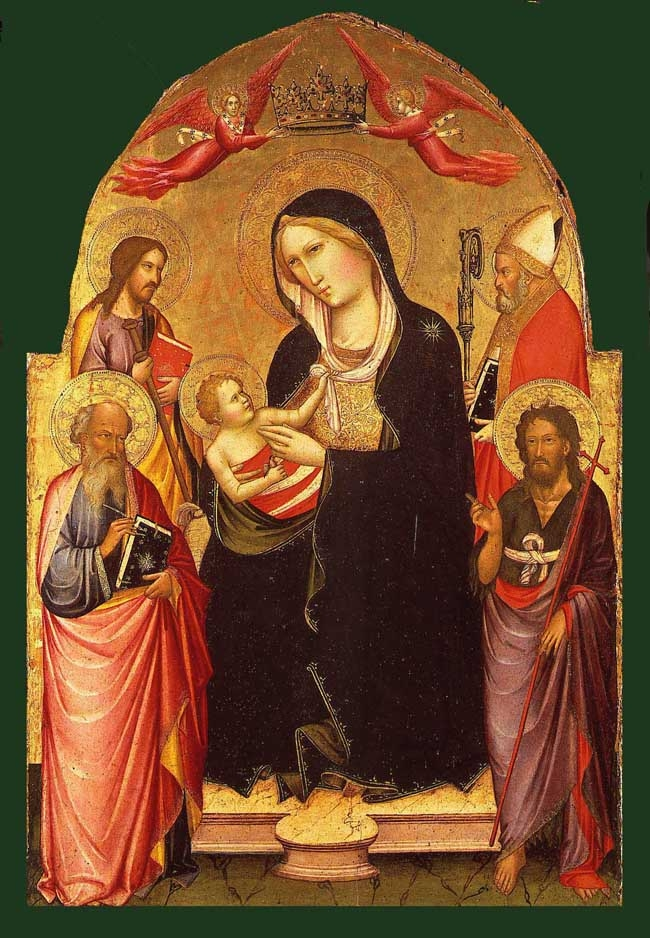 Madonna and Child with St. John the Evangelist,St. John the Baptist, St.James Major and a Bishop Saint