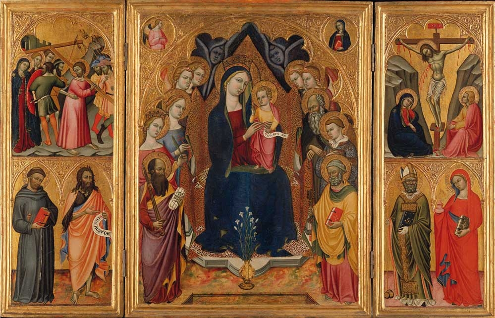 A Triptych with the Madonna in Majesty