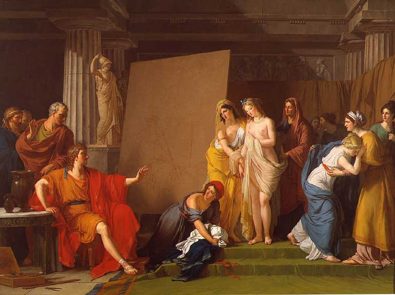 Zeuxis Choosing his Models for the Image of Helen from among the Girls of Croton
