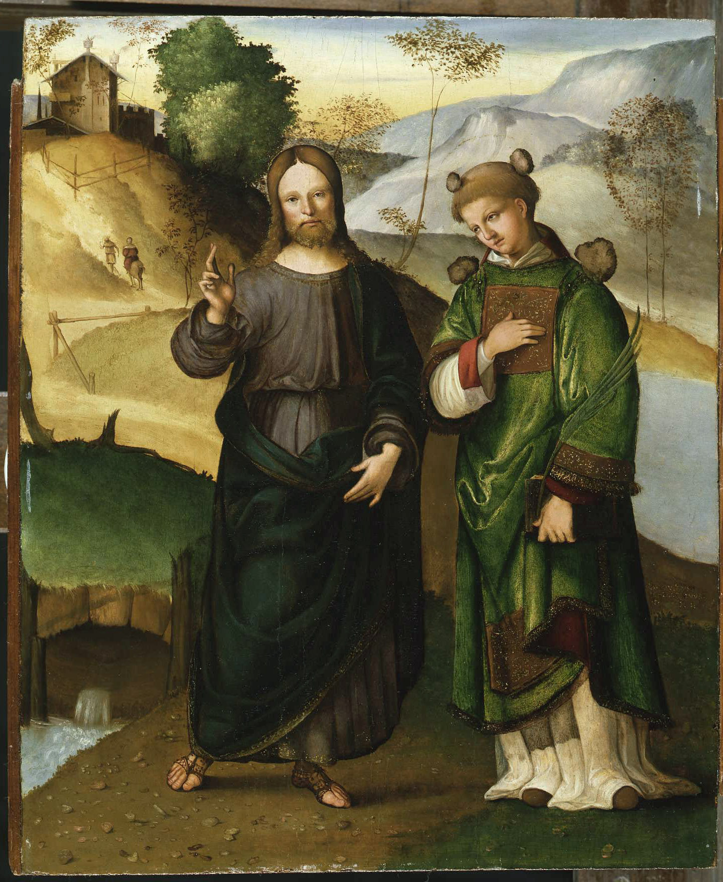 Christ and St Stephen