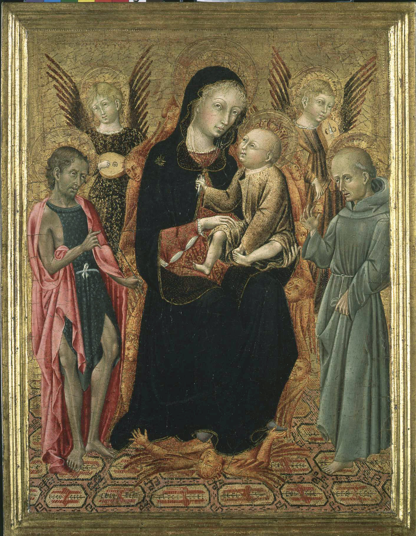 The Virgin and Child with Saints John the Baptist, St. Bernard Two angels and Seraphim