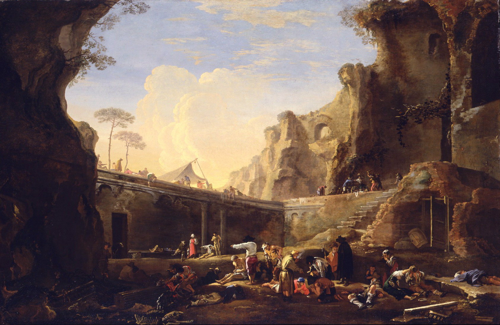 a Beggar's Encampment