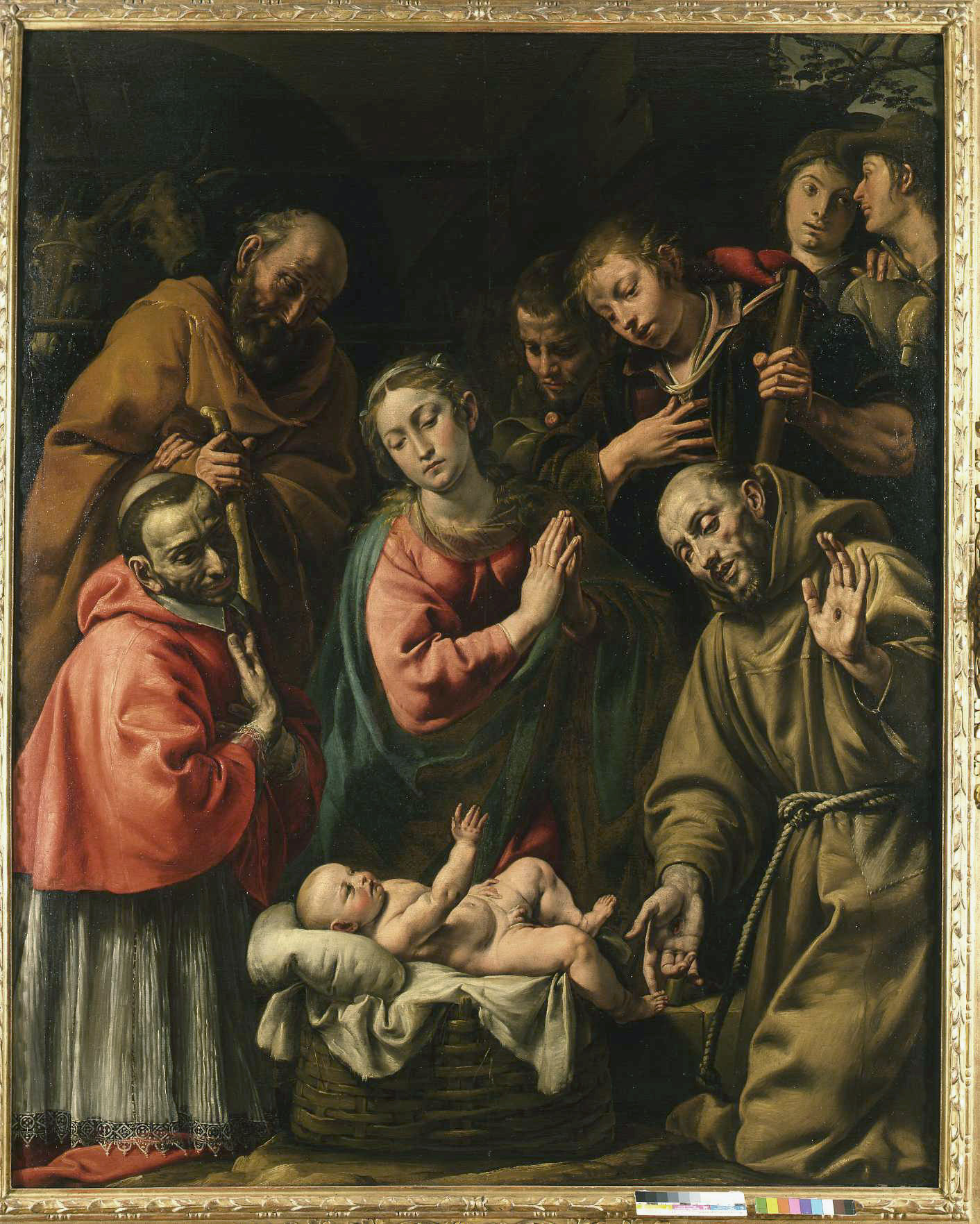 The Adoration of the Shepherds with San carlo Borromeo