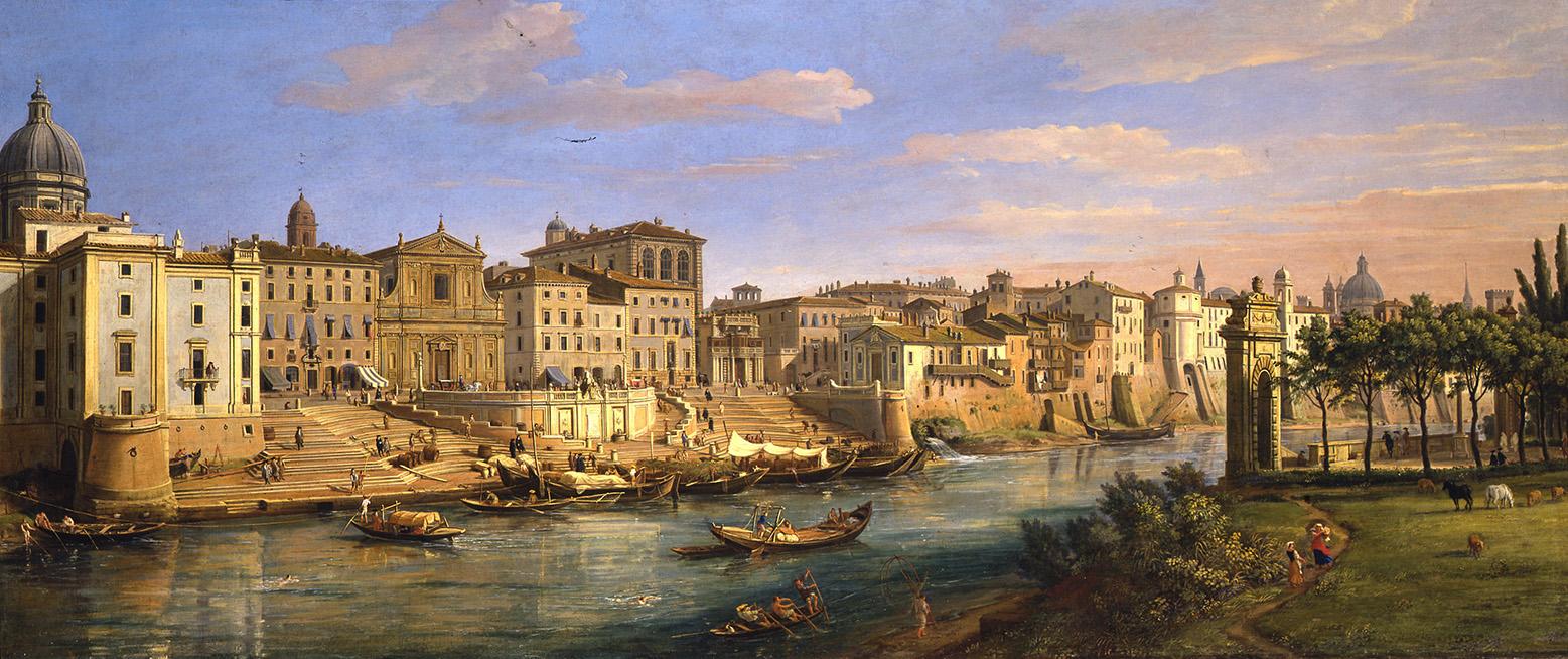 The Porto di Ripetta, Rome