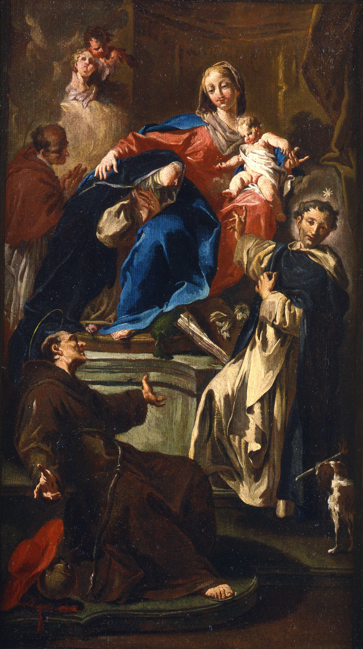 The Madonna and Child Enthroned wit Saints Rose of Lima, Dominic, Bonaventure and Charles Borromeo