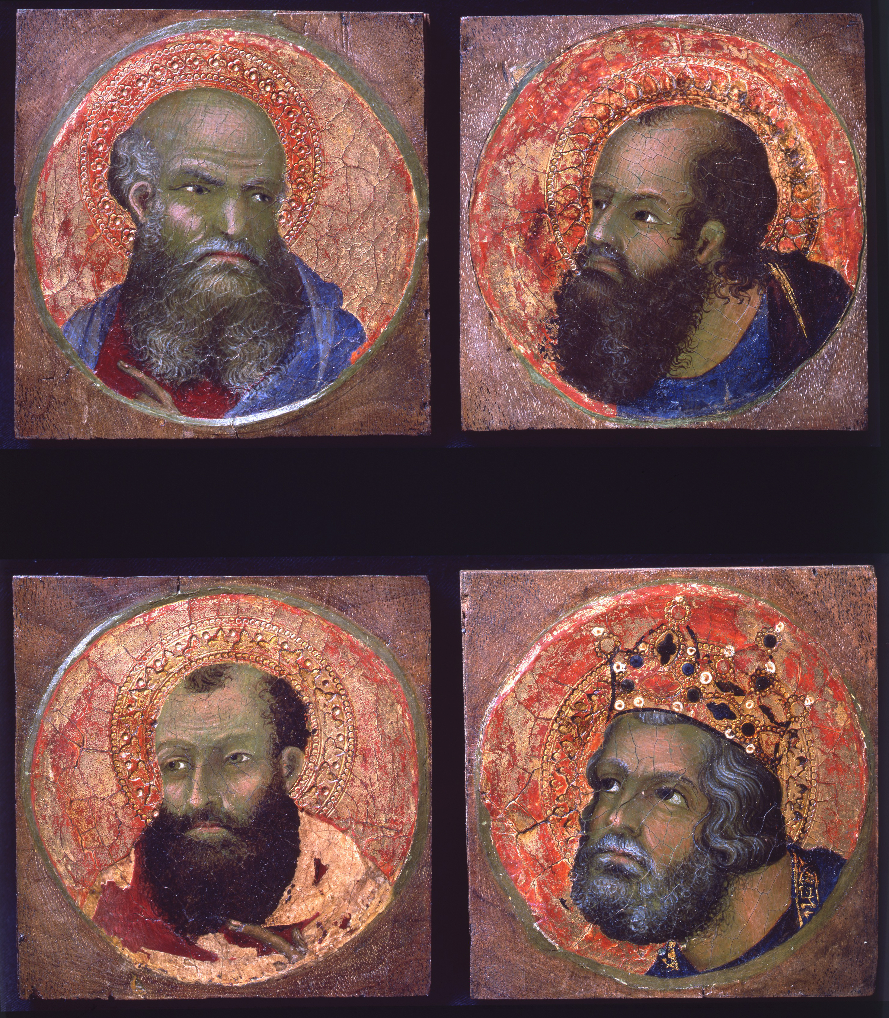 Three heads of prophers and the head of David