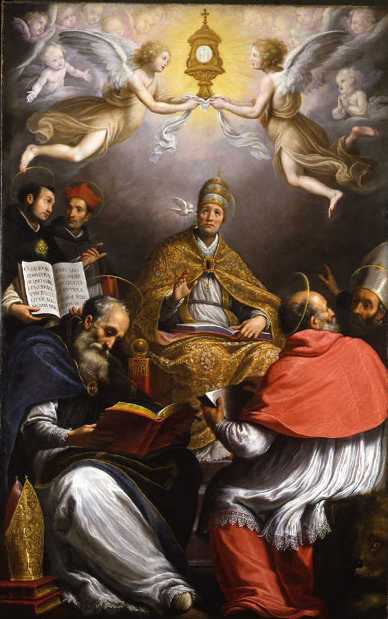 An Altarpiece with St Gregory and saints