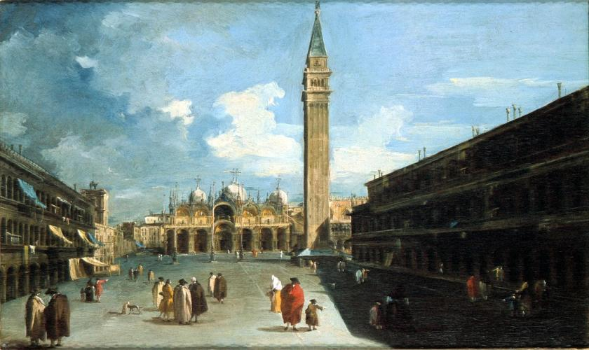 A View of St. Marks with the Basilica and Campanile