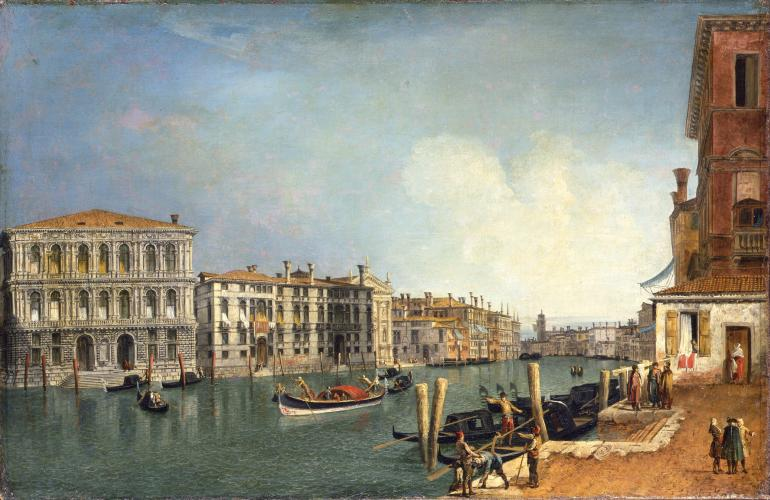 A View of the Grand Canal with the Ca Pesaro