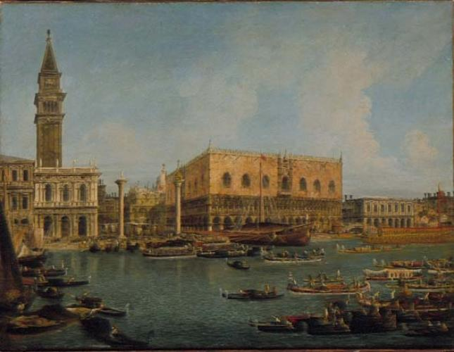 A View of the Palazzo Ducale and the Piazzetta