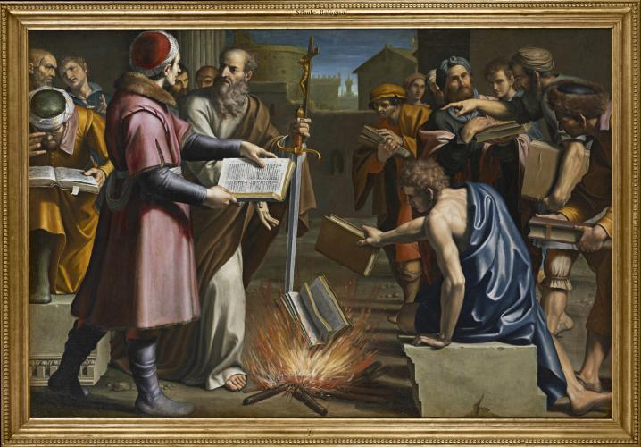 Saint Paul and the burning of pagan books at Ephesus