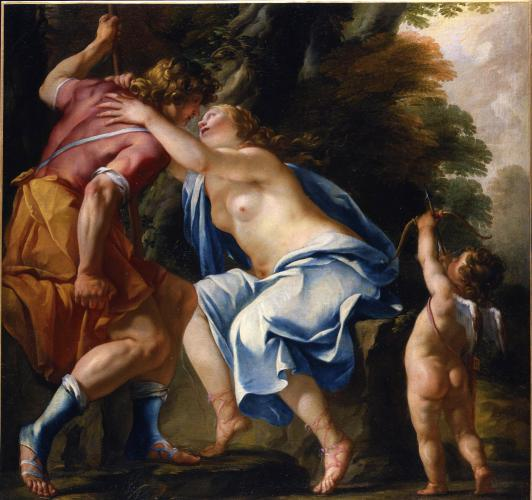 Venus and Adonis Departing for the Hunt